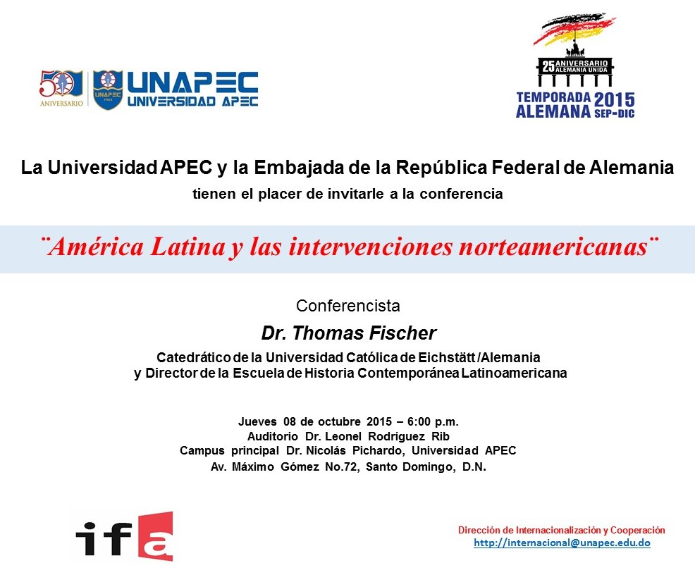 Invitación Conferencia Dr. Fischer_Alemania_8 Oct2015