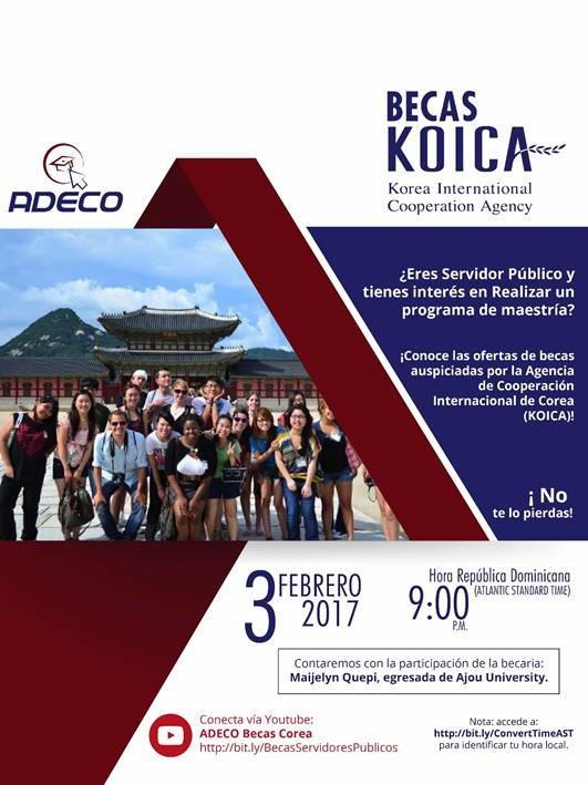 Becas Corea_KOICA_charla virtual 3 feb17